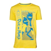 Rick And Morty - Crazy Crap Men's XX-Large T-Shirt - Yellow