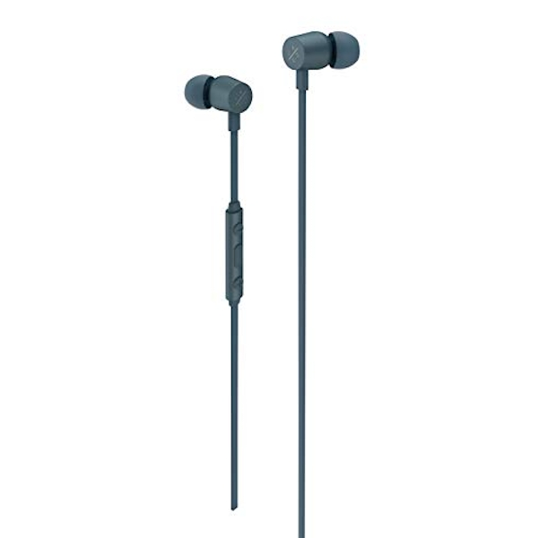 X by Kygo E2/400 Sports Earphones, Built-in Microphone and Remote Control, Magnetic Housing - Storm Grey