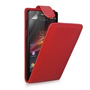 YouSave Accessories Sony Xperia Z Leather-Effect Flip Case - Red