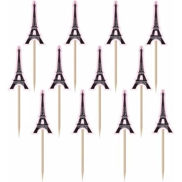 A Day In Paris Eiffel Tower Shaped Food Picks (Pack Of 36)