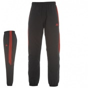 Adidas Samson Woven Tracksuit Bottoms Black & Scarlet Large