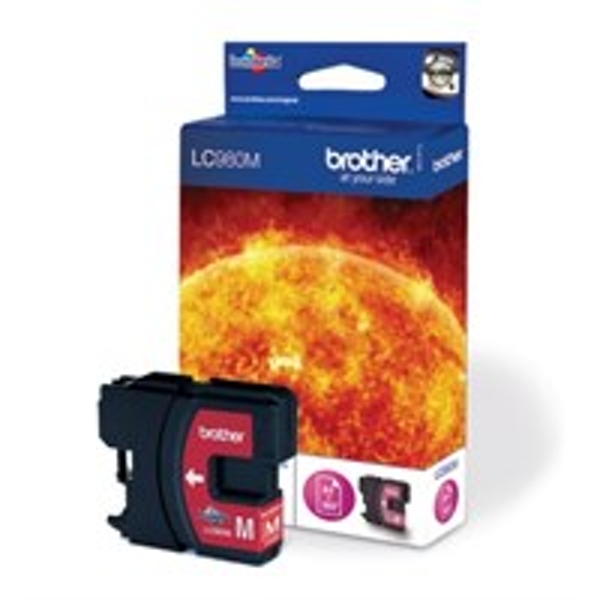 Brother LC-980M Ink cartridge magenta, 260 pages, 6ml