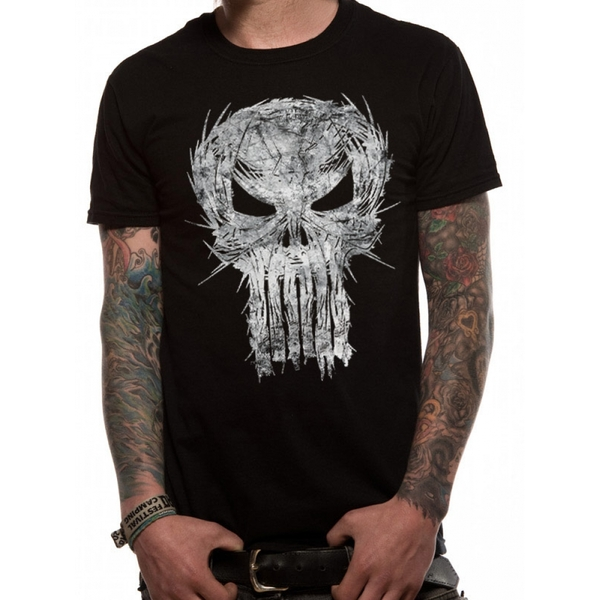 Punisher - Shatter Skull Men's XX-Large T-Shirt - Black