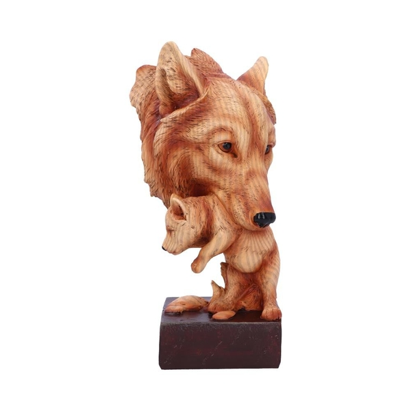 Natural Protection Wolf and Cub Bust