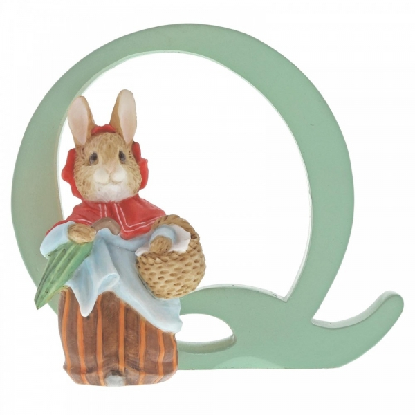 Letter Q Mrs Rabbit Figurine