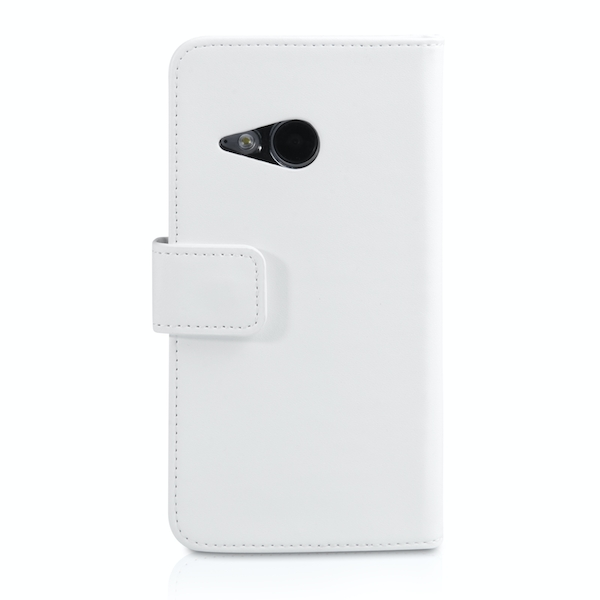 YouSave Accessories HTC One Mini 2 Leather-Effect Wallet Case - White - Image 2