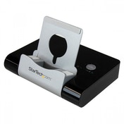 StarTech 3 Port USB 3.0 Hub Plus Combo Fast-Charge Port with Tablet Stand (Black)