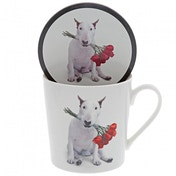 Red Roses (Jimmy the Bull) Dog Mug & Coaster