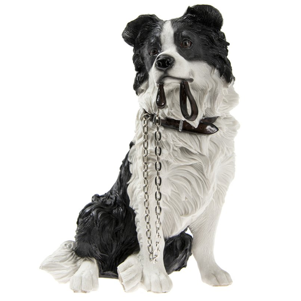 Walkies Border Collie Sitting Ornament by Lesser & Pavey