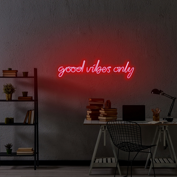 Good Vibes Only - Red Red Wall Lamp