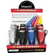 Infapower F006 9-LED Mini Pocket Power Torch (Pack of 12)