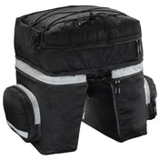 Hama Bicycle Pannier Bag for Luggage Carrier, 3 parts, black