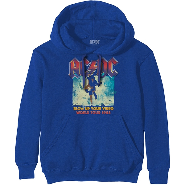 AC/DC - Blow Up Your Video Unisex Small Hoodie - Blue