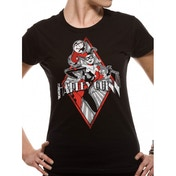 Harley Quinn - Diamond Fitted T-shirt Black Medium