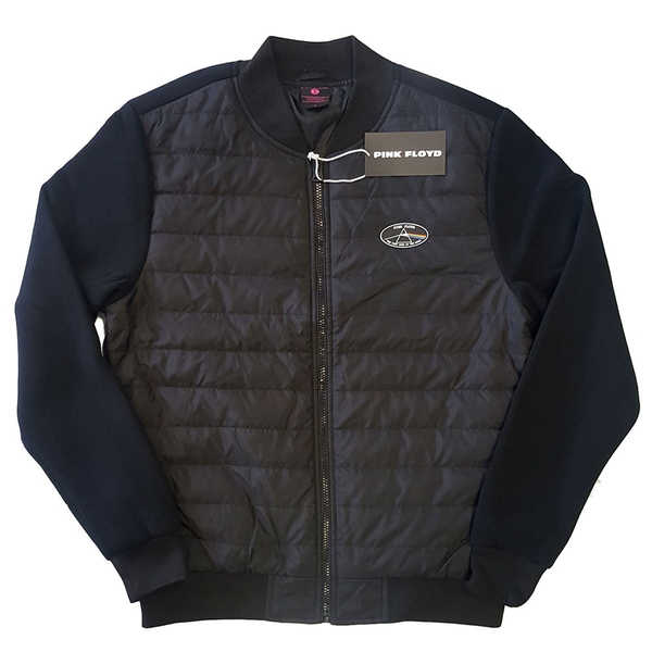 Pink Floyd - Dark Side of the Moon Oval Unisex Large Quilted Jacket - Black