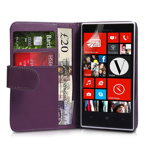 YouSave Accessories Nokia Lumia 720 Leather-Effect Wallet Case - Purple