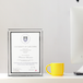 A4 Photo Certificate Mirrored Glass Frame | M&W - Image 2