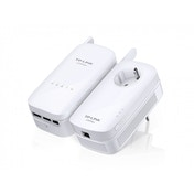 TP-LINK AV1200 1200Mbit/s Ethernet LAN Wi-Fi White 2pc(s) PowerLine Network Adapter UK Plug