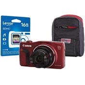 Canon PowerShot SX710 HS Red Camera Kit inc 16GB SDHC Class 10 Card & Case