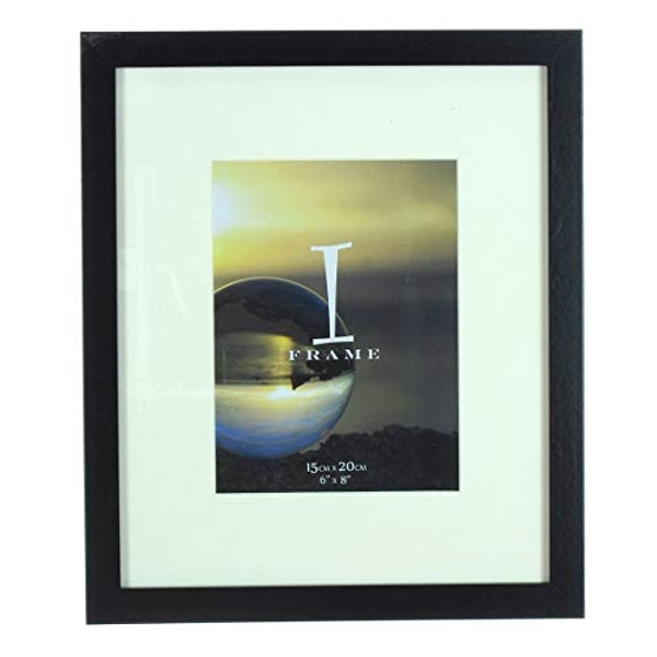 """6"""" x 8"""" - iFrame Solid Black Wood Finish Frame with Mount"""