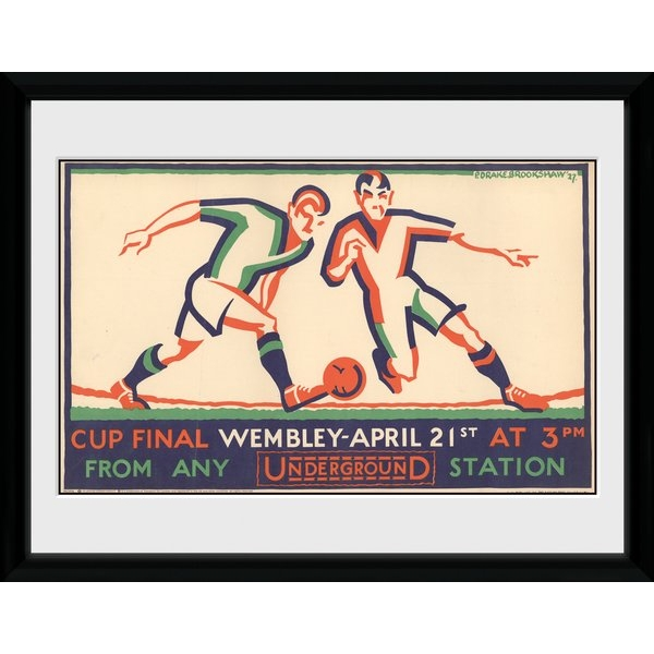 "Transport For London Wembley 12"" x 16"" Framed Collector Print"