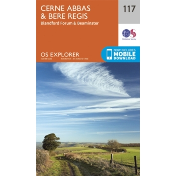 Cerne Abbas and Bere Regis, Blandford Forum and Beaminster by Ordnance Survey (Sheet map, folded, 2015)