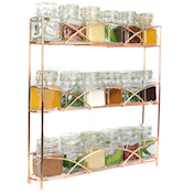 Rose Gold Spice Rack Only £7.99