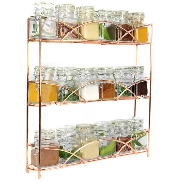 3 Tier Herb & Spice Rack | M&W Rose Gold - Image 1