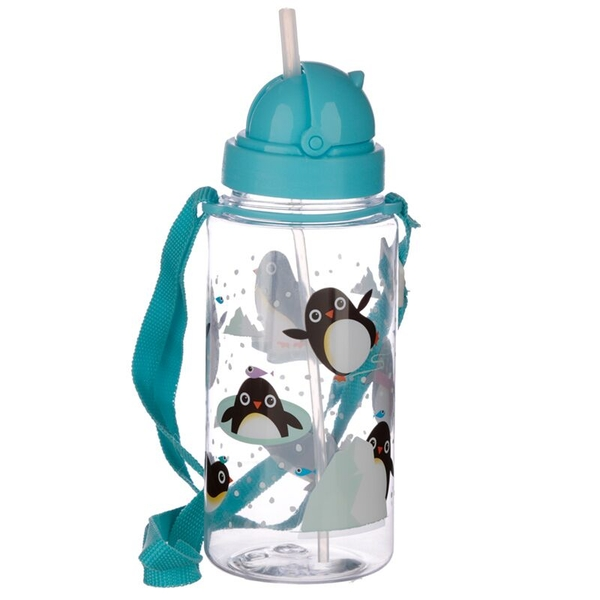 Penguin Design 450ml Childrens Water Bottle