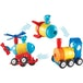Learning Resources 1-2-3 Build It (Rocket/Train/Helicopter) - Image 2