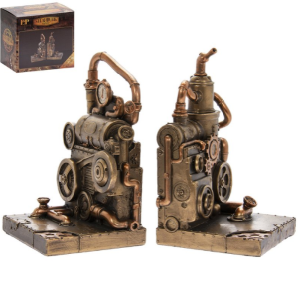 Steam Punk Bookends By Lesser & Pavey
