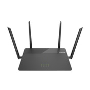 D-Link EXO AC1900 MU-MIMO wireless router Dual-band (2.4 GHz / 5 GHz) Gigabit Ethernet Black UK Plug