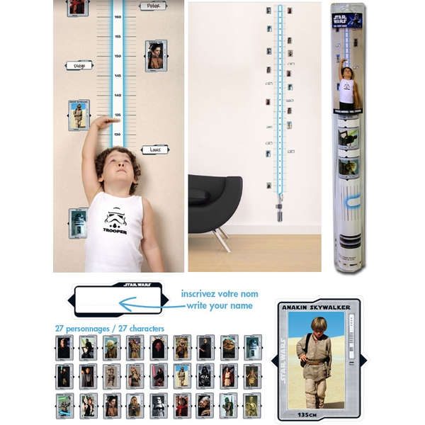Star Wars - Height Measure Wall Stickers (100 x 70 cm)