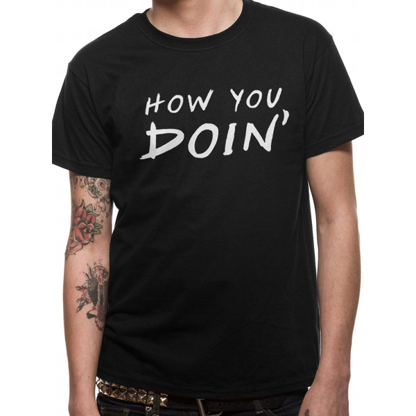 Friends - How you Doin' Men's Small T-Shirt - Black