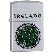 Zippo Celtic Design Satin Chrome Windproof Lighter