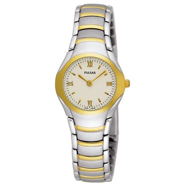Pulsar PEG406X1 Ladies Two Tone Classic Bracelet 50M Watch