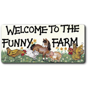 Welcome To The Funny Farm Smiley Magnet Pack Of 12