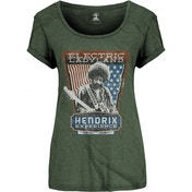 Jimi Hendrix Electric Ladyland Ladies Medium T-Shirt - Green