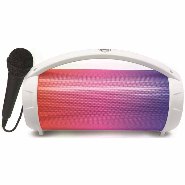 iParty Bluetooth Speakers with Lights & Mic - White