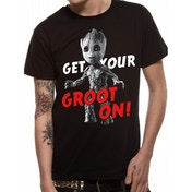 Guardians Of The Galaxy Vol 2 - Get Your Groot On Men's XX-Large T-Shirt - Black