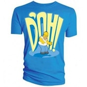 SIMPSONS DOH Blue T Shirt LARGE Clothing