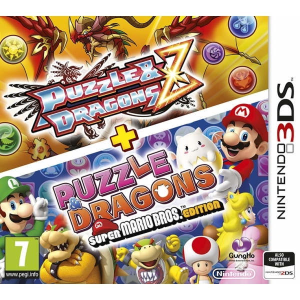 Puzzle and Dragons Z + Puzzle & Dragons Super Mario Bros Edition 3DS Game - Image 1