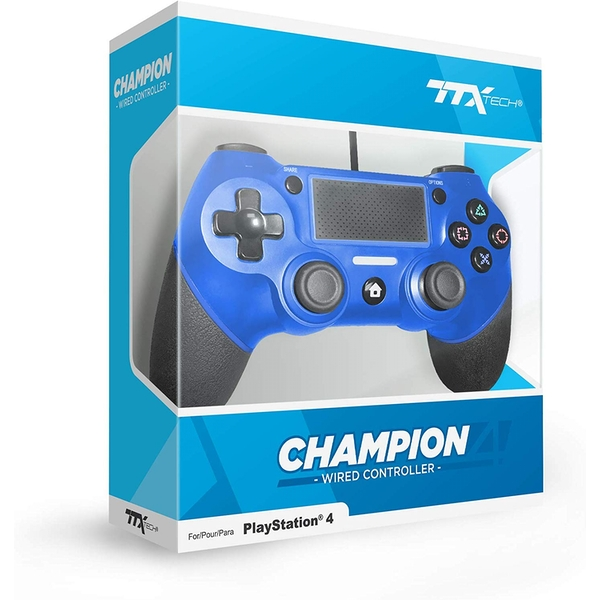 Image of TTX Blue Champion Wired PS4 Controller
