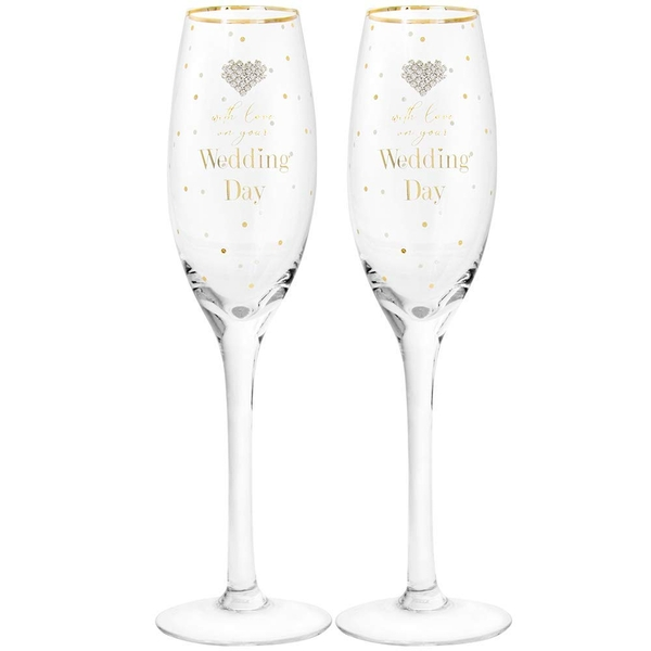 Mad Dots Wedding Flutes By Lesser & Pavey