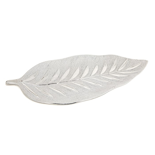 Willow Leaf Plate Champagne Ornament