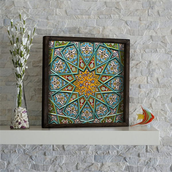 KZM653 Multicolor Decorative Framed MDF Painting
