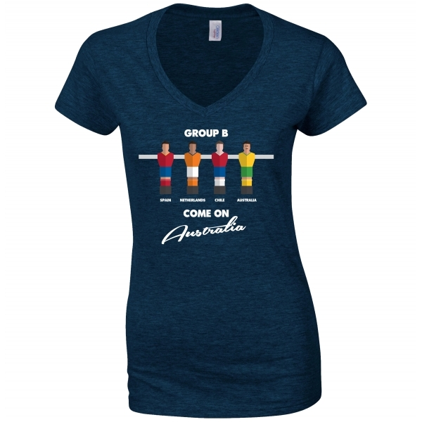 Table Football Group Australia Navy Womens T-Shirt Small ZT - Image 1
