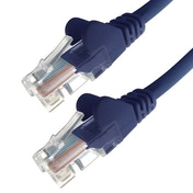 Connekt Gear 2M Blue RJ45 UTP CAT 5e Stranded Flush Moulded Snagless Network Cable 24AWG