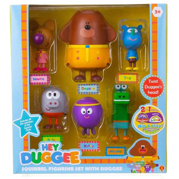 Hey Duggee Squirrel 6 Figure Set - Image 1