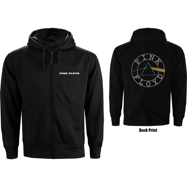 Pink Floyd - Circle Logo Ladies X-Small Hoodie - Black